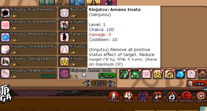 Kinjutsu Amano Iwato Ninja Saga