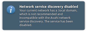 Fixed Network service discovery disabled Avahi on Ubuntu 12 04