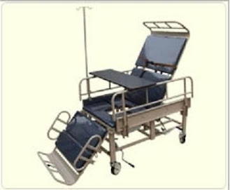 Wheelchair convertible HOSPITAL BED