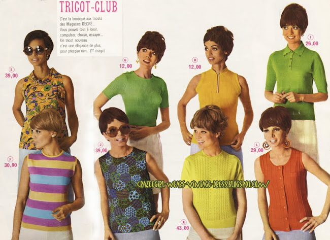 Knit Top - Catalogue Decré - Nantes - 1968 magasin 1960 60s