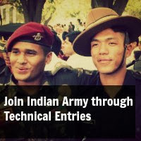 Join Indian Army through Technical Entries