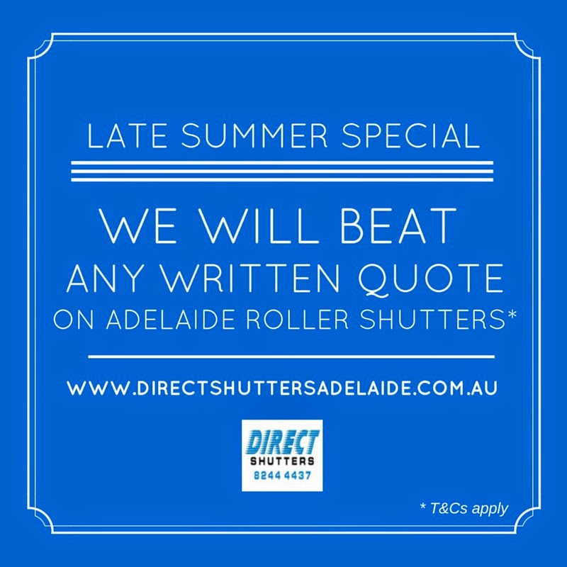 Direct Shutters will beat any written quote on Adelaide roller shutters