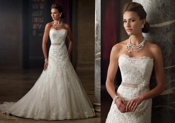 Brautkleider mit Spitze , Brautmoden mit Spitze