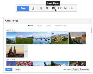 inviare foto da Gmail