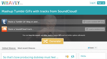 Weavly crea videos y remix de audio desde internet