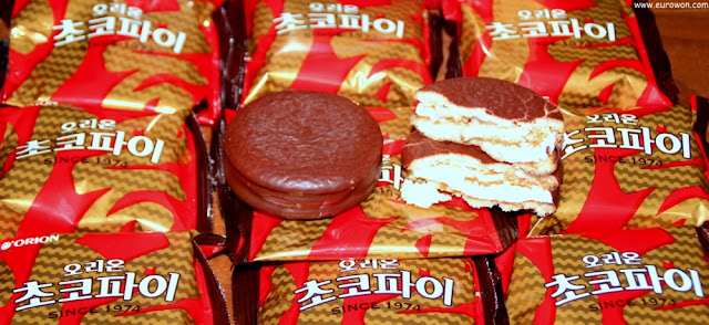 Choco Pie (초코파이) los pastelitos de chocolate de Corea