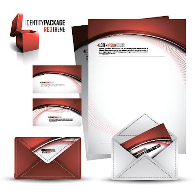 Contoh Desain Kop Surat , kartu nama, amplop