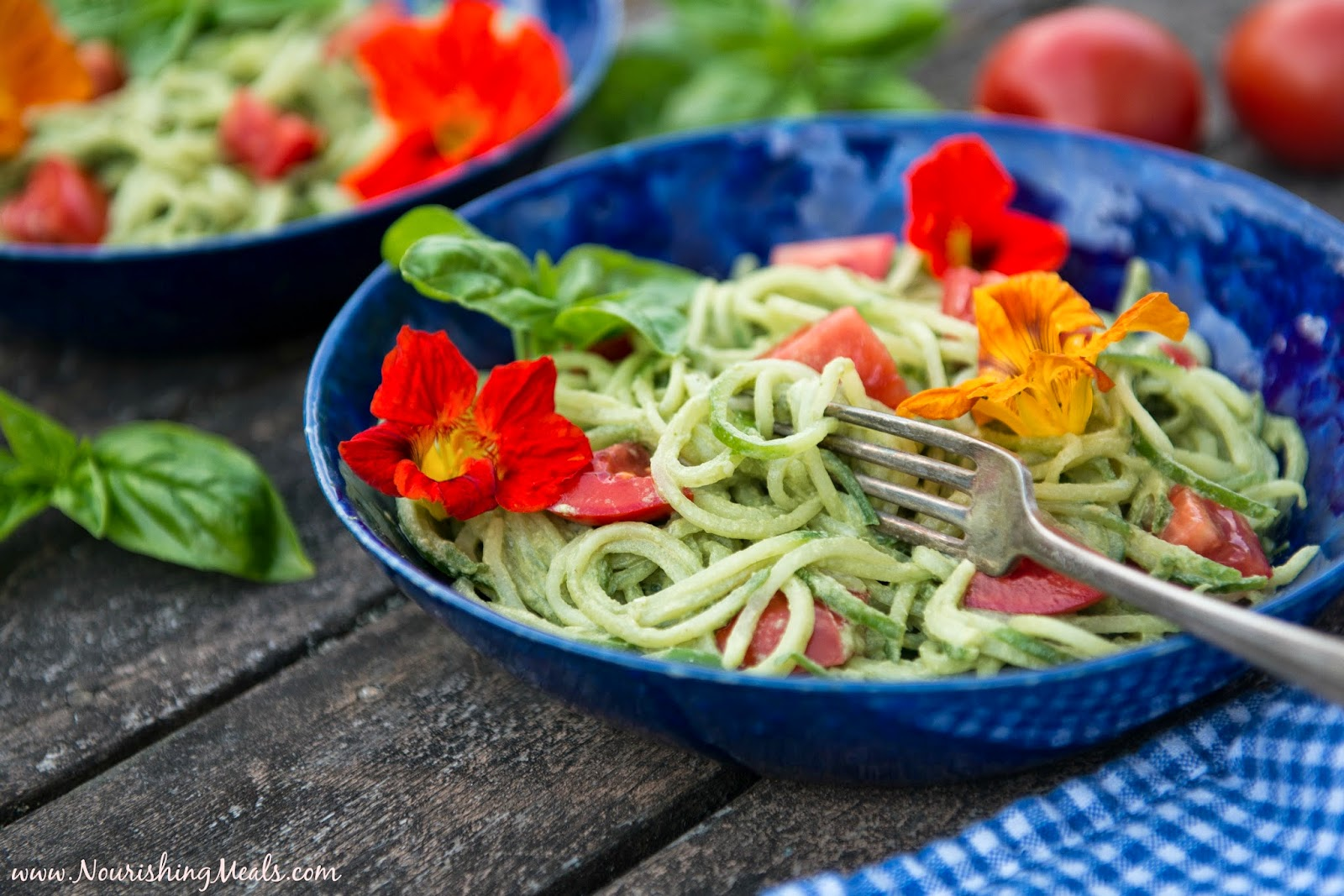 Cucumber Noodles with a Raw Pumpkin Seed Pesto Sauce (dairy-free, nut ...