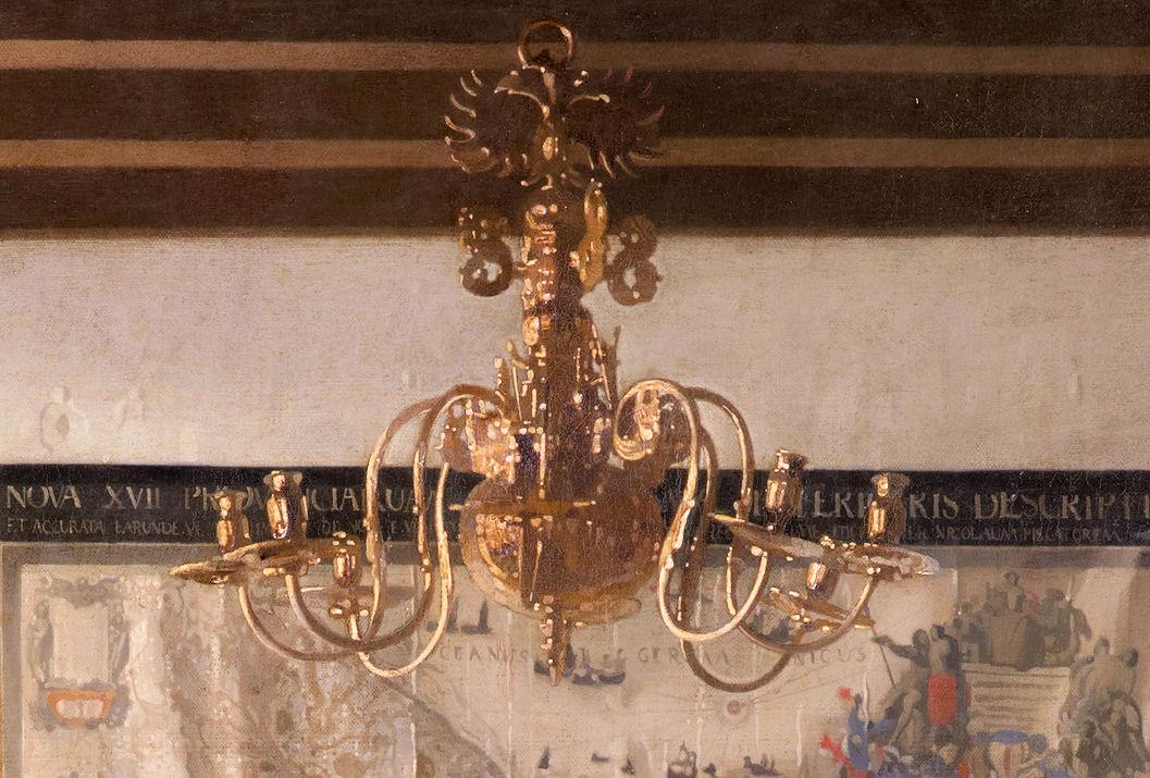 EuroTravelogue ArtOdysseys Vermeers The Art of Painting – Painting of Chandelier