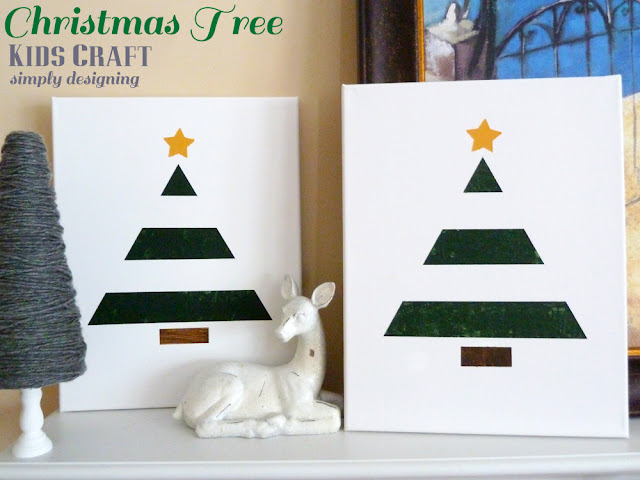 Christmas Tree Art {Kids Craft} | #texturedsurface #christmas #christmascraft #kidscraft