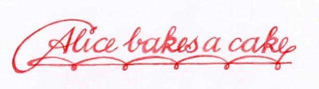 Alice Bakes a Cake
