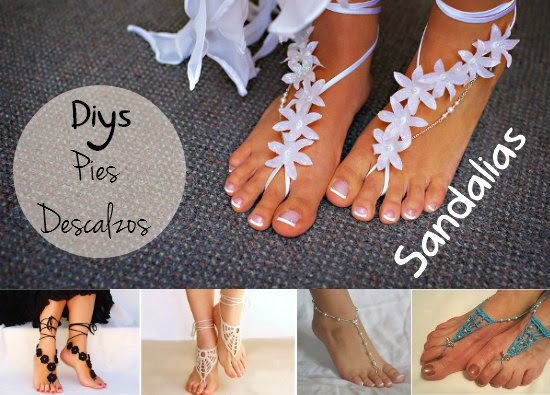 Como hacer 9 Sandalias para Pies Descalzos - enrHedando
