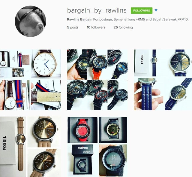 bargain by rawlins, instashop, watches, bags, murah, byrawlins
