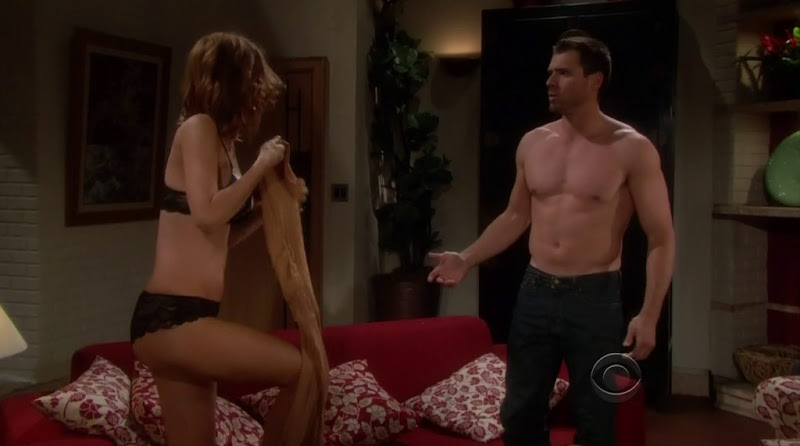 Joshua Morrow Shirtless on the Young and the Restless 20120420