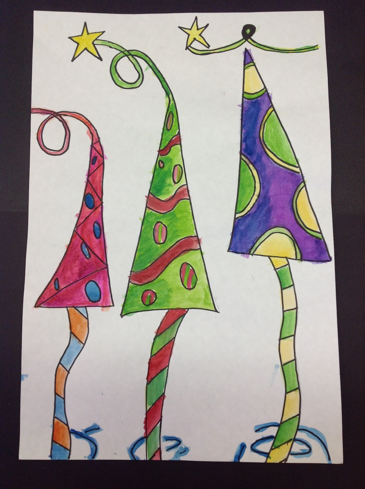 color it like you mean it 5th grade 39 s whimsical trees. Black Bedroom Furniture Sets. Home Design Ideas