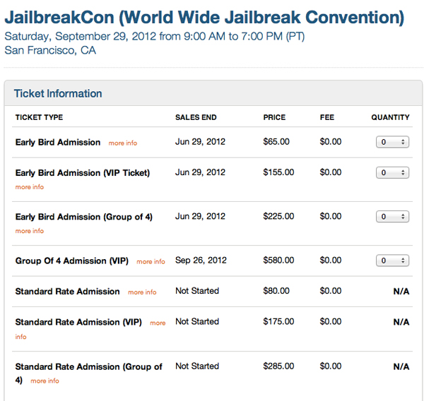 JailbreakCon WWJC 2012 Screenshot