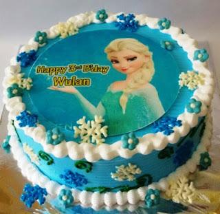 Kue Ulang Tahun Elsa Frozen
