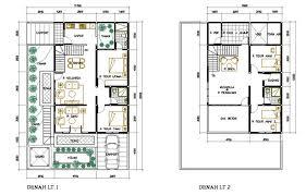 denah rumah kamar 3
