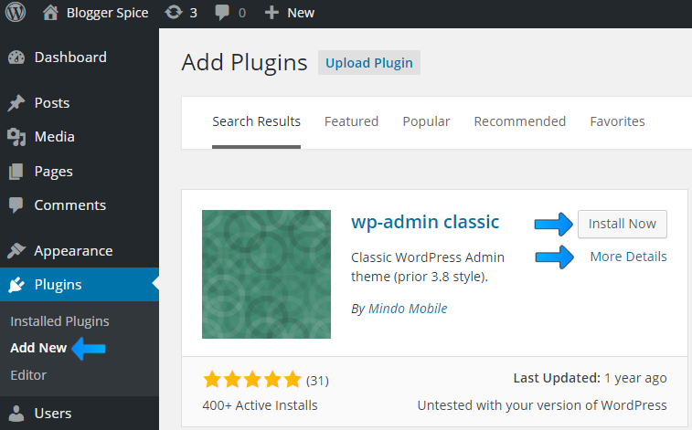 wp-classic plugins