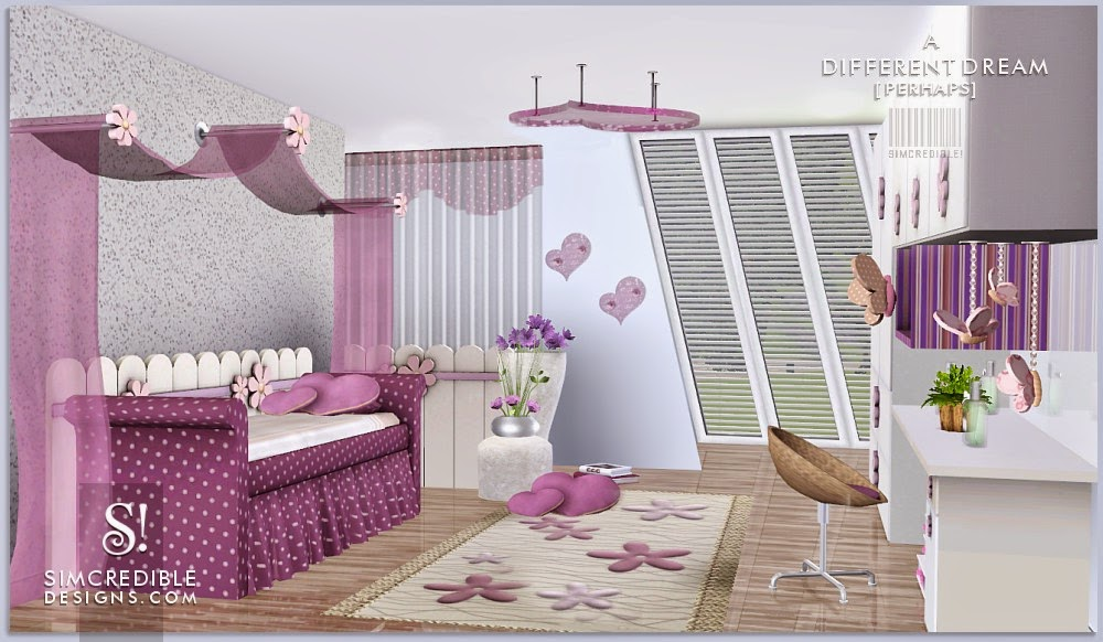 A Different Dream Bedroom Set For Girls By Simcredible Designs