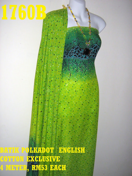 BPE 1760B: BATIK POLKADOT ENGLISH COTTON EXCLUSIVE, 4 METER
