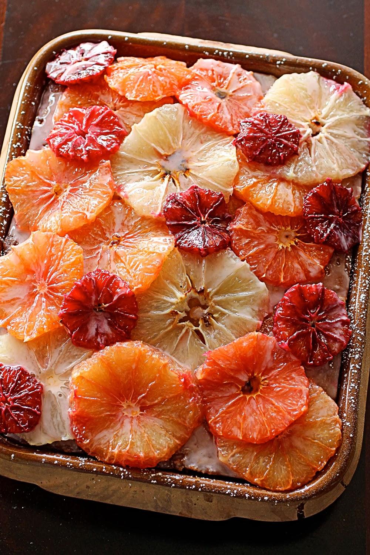 Slice of grapefruit cake 73