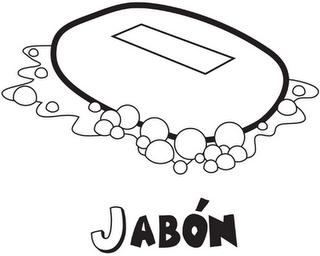 Colorea tus dibujos jab n para colorear for Jabon neutro para limpiar muebles