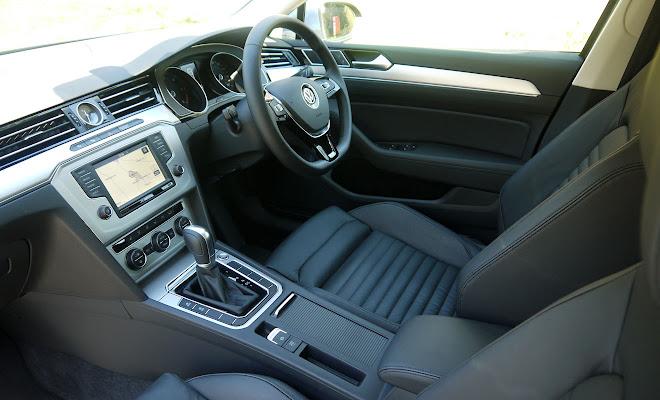 VW Passat front interior