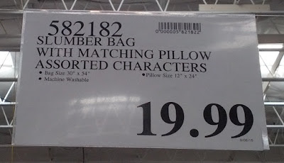 Deal for the Slumber Bag with Matching Pillow at Costco