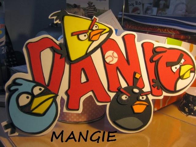 Letrero nombre goma eva de Angry Birds