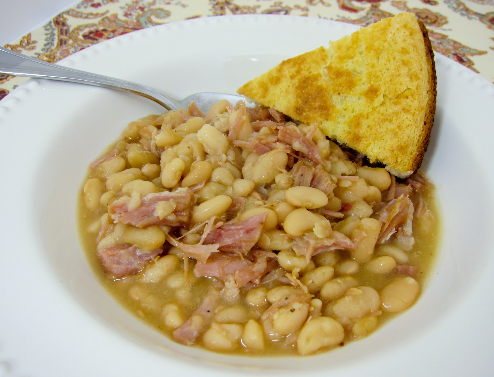 Slow Cooker Heavenly Ham and Bean Soup recipe from