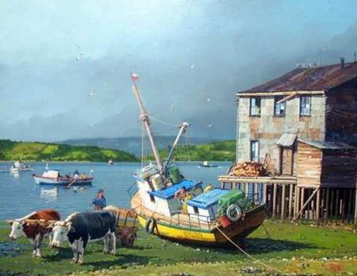al oleo sobre lienzo marinas oleos los cuadros de los puertos autor