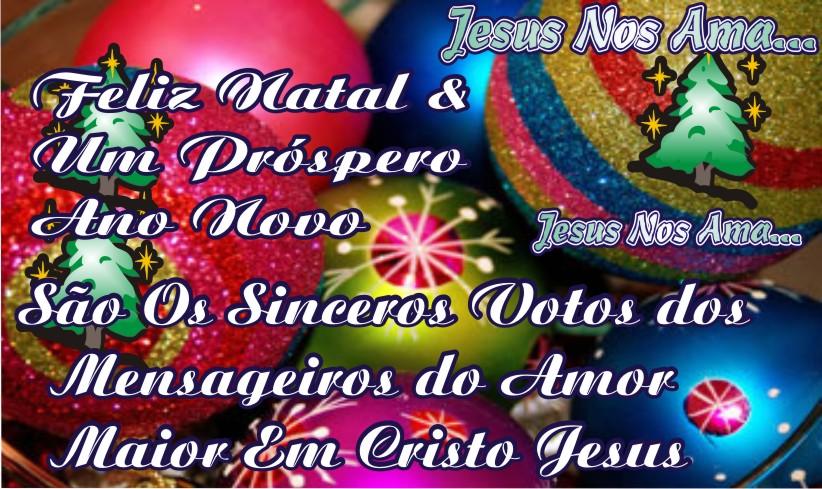 Feliz Natal e Próspero Ano Novo - Jesus Nos Ama