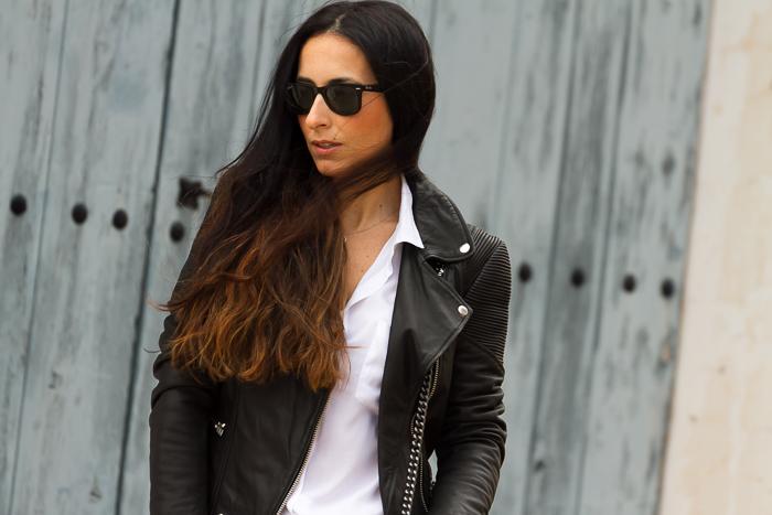 Horana Leather Corded Biker Jacket de Muubaa