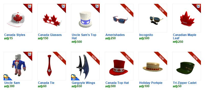 Unofficial Roblox Rare Canada Items Out On Roblox