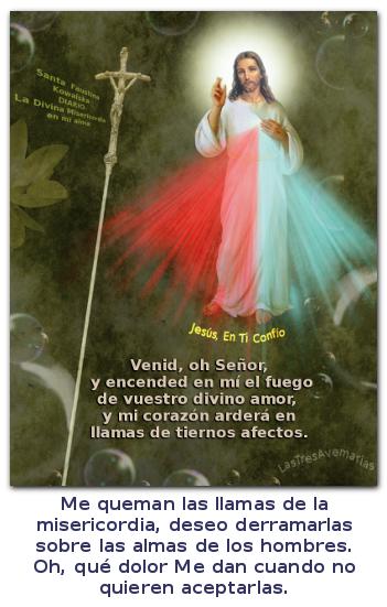 foto con mensaje de jesus rey de misericordia