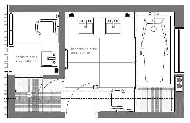 plantas de banheiros pequenos 4 Car Tuning -> Projeto Banheiro Com Banheira Planta Baixa