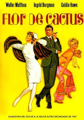 """Cartel de la película """"Flor de cactus"""" (Gene Saks, 1969)"""