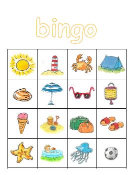 Extreem Kleuterjuf in een kleuterklas: Plaatjes bingo   thema ZOMER(VAKANTIE) @UC43