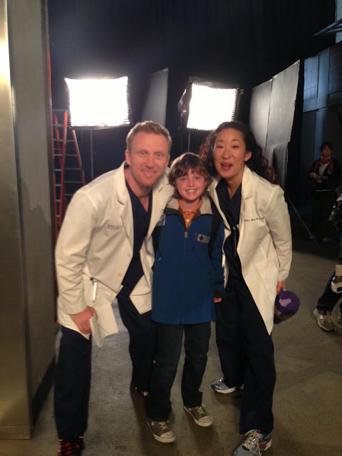 Sandra Oh with co-star Kevin McKidd and young actor Kyle Silverstein    Kevin Mckidd And Sandra Oh