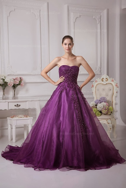 Amazing purple color wedding dress fashion and style inspiration