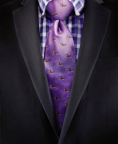 Chaps dolly dog-print tie