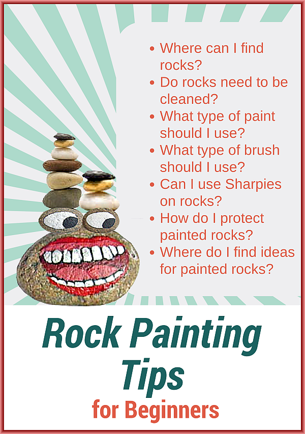 rock painting tips for beginners. Black Bedroom Furniture Sets. Home Design Ideas