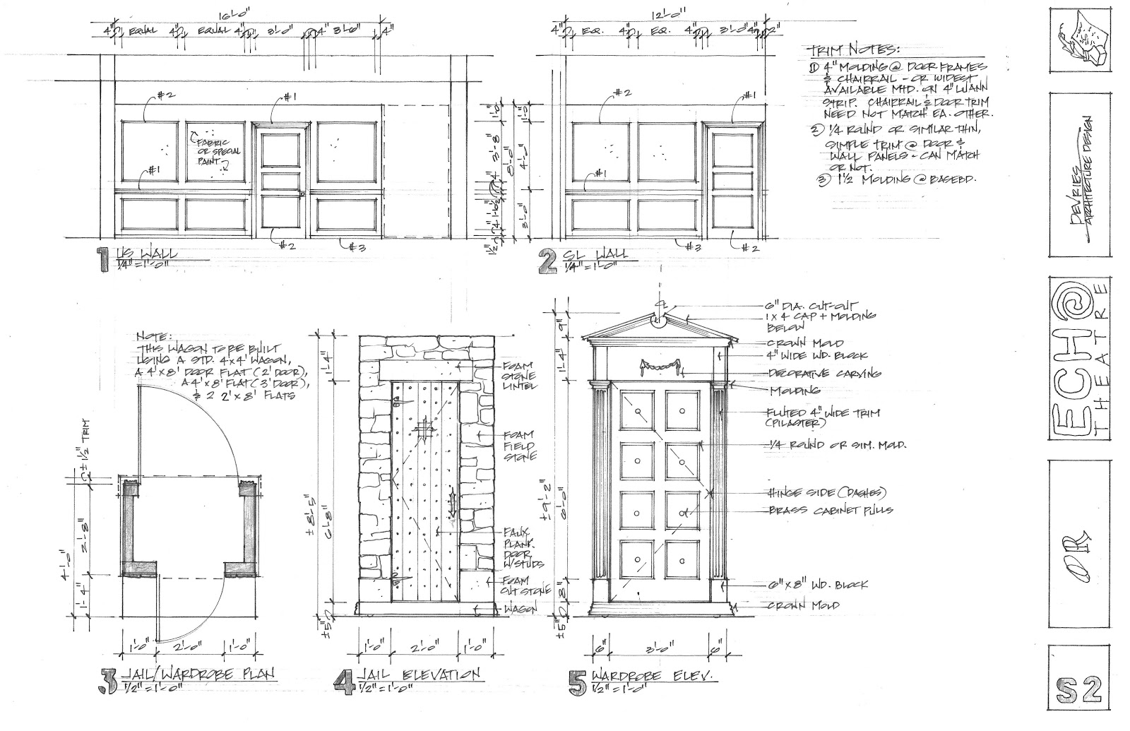 Design diary spoiler construction drawings for Construction drawing