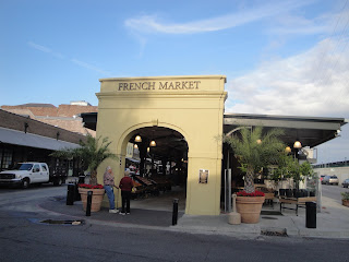 The front door to the open air market.