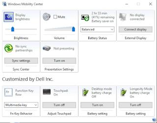 Windows Mobility Centre