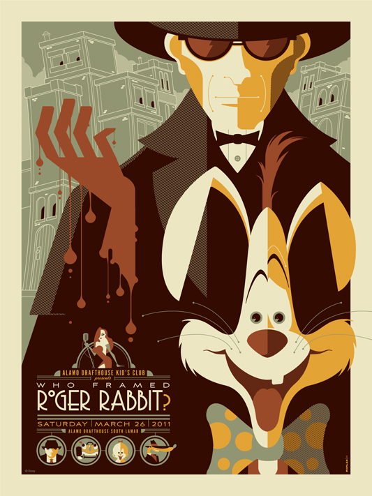 The Blot Says...: Who Framed Roger Rabbit? Screen Print by Tom Whalen
