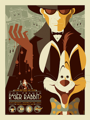 Who Framed Roger Rabbit? Disney Screen Print by Tom Whalen