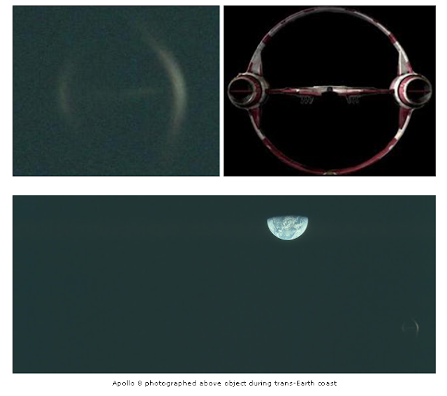 Biblical Ezekiel Wheel Shaped UFO Photographed By NASA Apollo 8