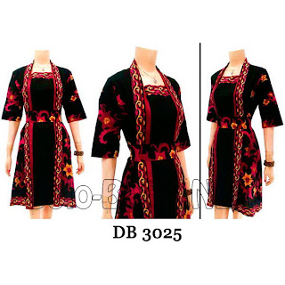 DB3025 Model Baju Dress Batik Modern Terbaru 2013